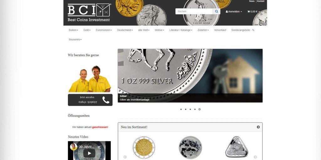 Pixelnerds Webseitenerstellung referenz Best Coins Investments