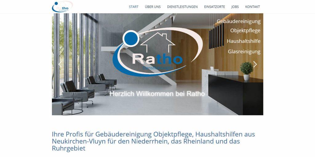 Ratho Gebäudereinigung Referenz Pixelnerds Webseitenerstellung