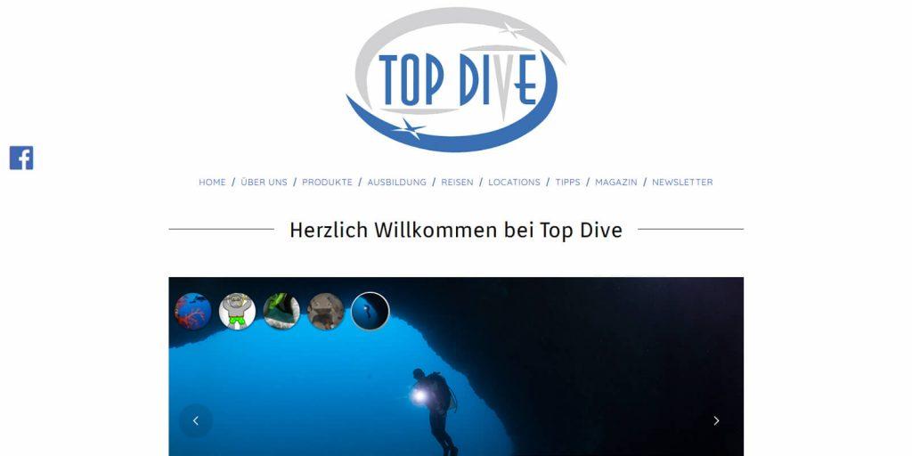 Pxelnerds Webseitenerstellung Top Dive