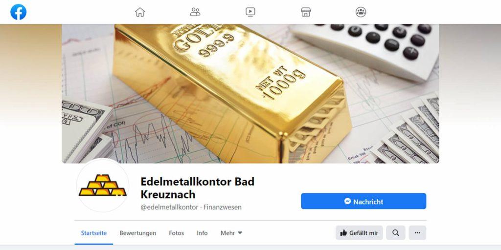 Pixelnerds Referenz Edelmetallkontor Facebook
