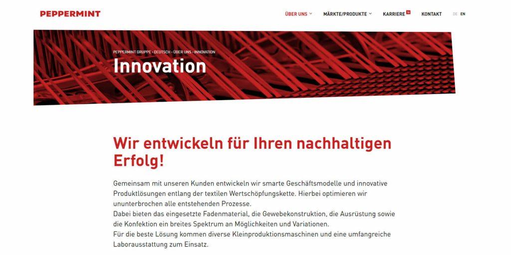 Pixelnerds referenz Peppermint Holding GmbH