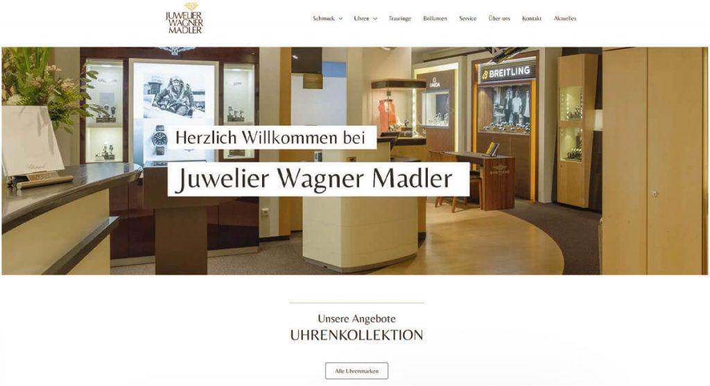 Pixelnerds Referenz Juwelier Wagner Madler