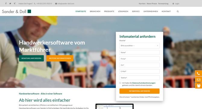 Sander und Doll Webseite